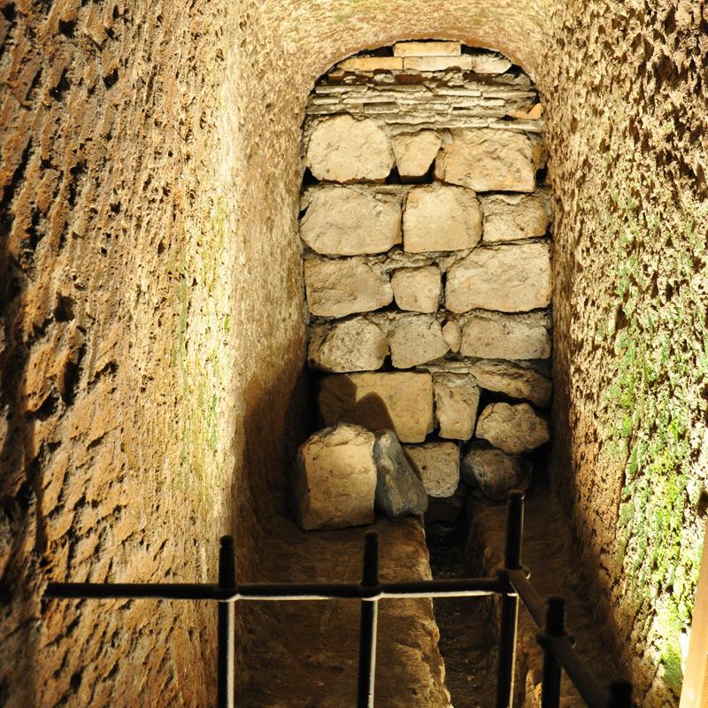 l'antico passaggio verso i sotterranei di Palazzo Filippeschi