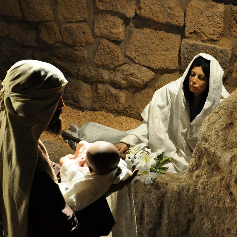 Holy Family in the dream of Joseph