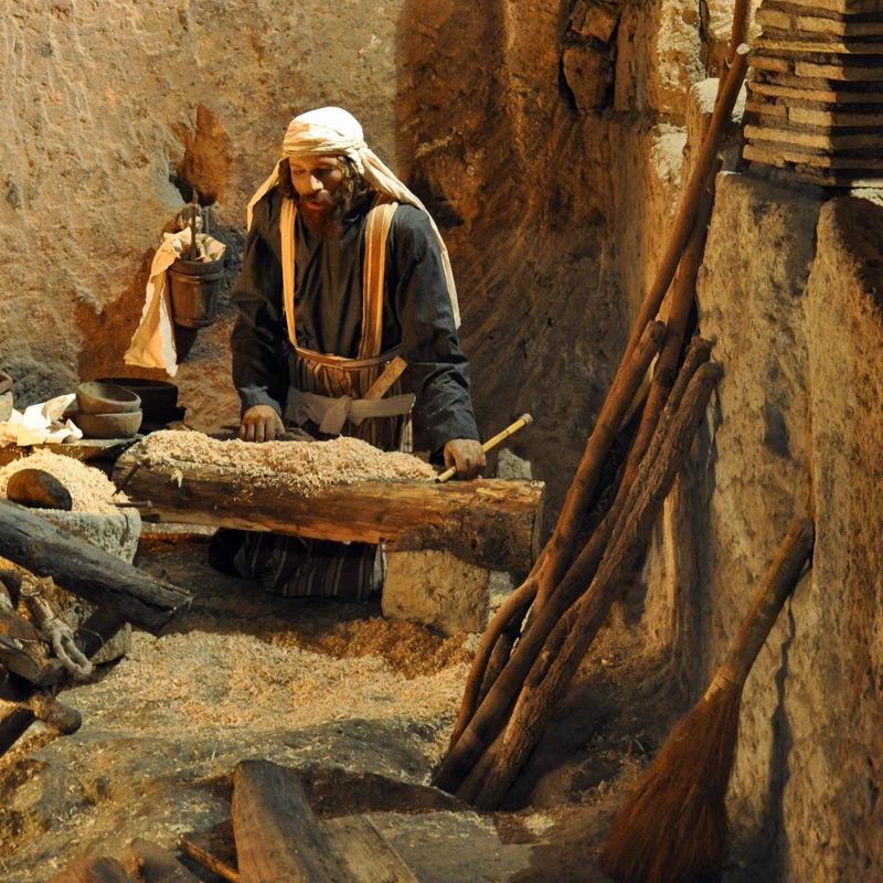 Joseph in his workshop