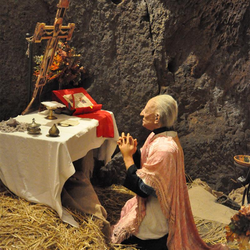 l'altare nel bosco di Greccio