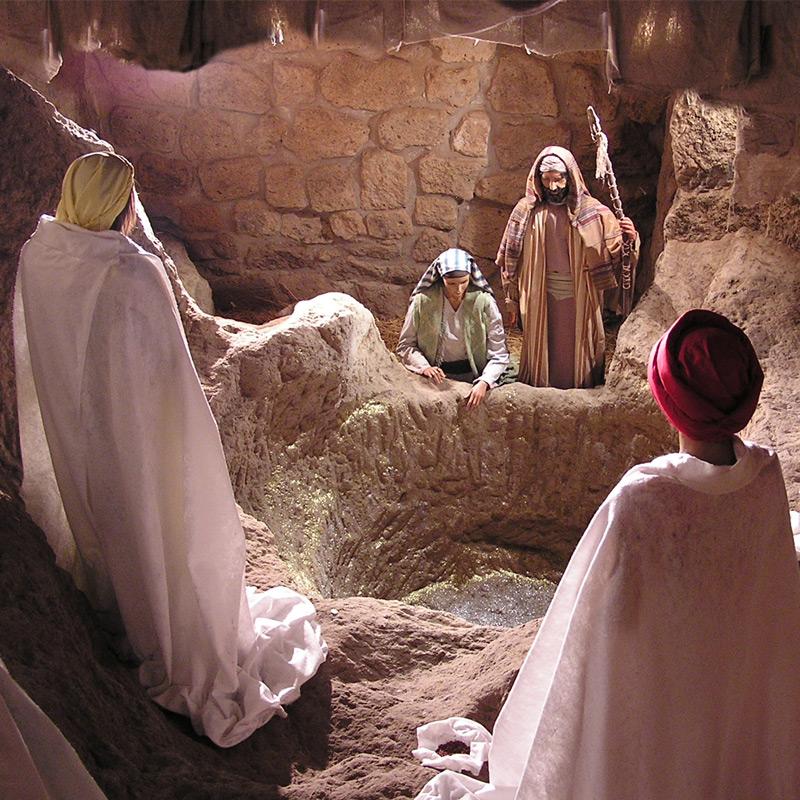 Maria e Giuseppe davanti ai Magi