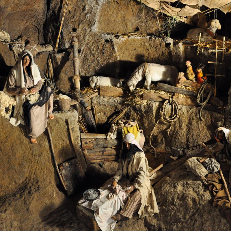 i pastori intenti alle proprie occupazioni