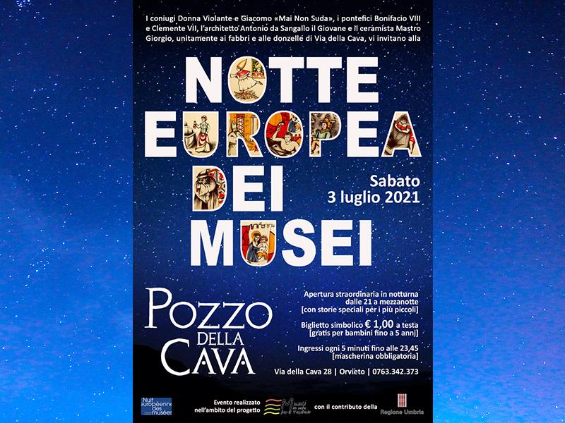 Notte Europea dei Musei 2021 al Pozzo della Cava